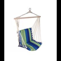 Kültéri textil függőfotel kék és zöld színben