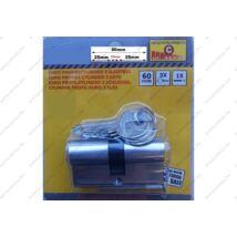 ProInstrument 60mm CILINDER BIZTONSÁGI ZÁRBETÉT 30/30mm HENGERZÁRBETÉT 5+5 CSAPOS 3 kulcsos CILINDERBETÉT 2 év GARANCIA