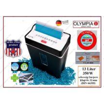 Olympia SemiPro 13 LITERES 8 lapos 350W IRATMEGSEMMISÍTŐ 8 lap / 4x32mm + BANKKÁRTYA FeketE 13L 2 év GARANCIA