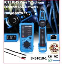 ProInstrument LAN RJ45 RJ11 MŰSZER UTP Ethernet Network KÁBEL TESZTELŐ VEZETÉKKERESŐ MÉRŐ 5 év GARANCIA