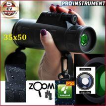 ProInstrument 35x50 ZOOM TÁVCSŐ MONOKULÁRIS BAK4 optika Dual Focus Night Vision MONOKULÁR TELESZKÓP 5 év GARANCIA
