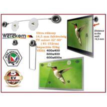 """WETEKOM LED LCD TV FALI TARTÓ KONZOL 32"""" - 60"""" ( 80-150cm ) 50kg VESA 400 - 600 ÁLLVÁNY"""