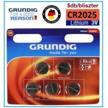 GRUNDIG Premium CR2025 LITHIUM GOMBELEM 5db / bliszter 3V elem