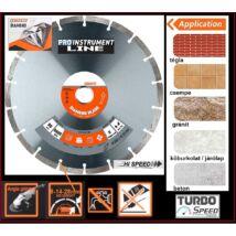 230x22,2mm ProInstrument Diamond GYÉMÁNT SZEGMENTÁLT BETON VÁGÓKORONG TURBO VÁGÓTÁRCSA MÉLYVÁGÁSHOZ KŐHÖZ TÉGLÁHOZ MÁRVÁNYHOZ 230 mm x 22,2 mm  stb.