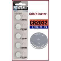 ProInstrument Premium CR2032 LITHIUM GOMBELEM 5db/bliszter 3V elem