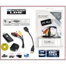 ProInstrument GRABBER USB DIGITALIZÁLÓ KONVERTER KÉSZLET ANALÓG VIDEO - AUDIO VHS ARCHIVÁLÓ + CD SZOFTWER GABBER