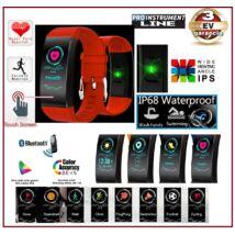 ProInstrument MultiSport SZÍNES Bluetooth PULZUSMÉRŐ OKOSÓRA VÍZÁLLÓ LÉPÉSSZÁMLÁLÓ OKOS KARKÖTŐ SPORTÓRA FACEBOOK APP ANDROID IOS Piros KARÓRA