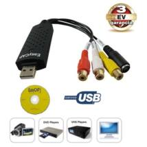 GRABBER USB DIGITALIZÁLÓ KONVERTER ANALÓG VIDEO - AUDIO VHS ARCHIVÁLÓ + CD SZOFTWER GABBER 3 év GARANCIA