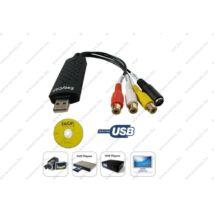 GRABBER USB DIGITALIZÁLÓ KONVERTER ANALÓG VIDEO - AUDIO VHS ARCHIVÁLÓ + CD SZOFTWER GABBER 3 év GARANCIA