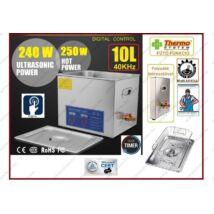 ProInstrument DigitaL40K INOX Heating IPARI 10 Literes 240W ULTRAHANGOS TISZTÍTÓ GÉP + MELEGÍTŐ FUNKCIÓVAL 20-80°C HŐFOKSZABÁLYZÓS DIGITÁLIS MOSÓ