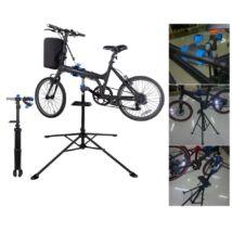 Teleszkópos kerékpárszerelő állvány szerszámtartóval