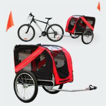 Kerékpáros pótkocsi - kisállatszállító - kutyák szállítására alkalmas utánfutó - kutyabicikli esővédővel