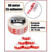 """60m/50mm ProInstrunment Fragile """" TÖRÉKENY """" FELIRATOS RAGASZTÓSZALAG 60 méter / 55 miliméter"""
