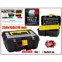 ProInstrument ABS Easy ZÁRHATÓ SZERSZÁMOSLÁDA 2 rekeszes MÉRŐTÁLCÁVAL 250x150x110mm MADE IN ITALY SZERSZÁMOSTÁSKA