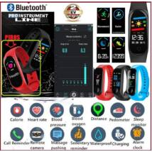 ProInstrument E-Health SZÍNES Bluetooth PULZUSMÉRŐ VÉRNYOMÁSMÉRŐ OKOSÓRA VÍZÁLLÓ LÉPÉSSZÁMLÁLÓ VÉROXIGÉN OKOS KARKÖTŐ SPORTÓRA FACEBOOK APP ANDROID IOS PiroS KARÓRA 2 év GARANCIA