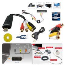 ProInstrument Easy GRABBER USB DIGITALIZÁLÓ KONVERTER ANALÓG VIDEO - AUDIO VHS ARCHIVÁLÓ + CD SZOFTWER GABBER