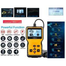 ProInstrument Automatic DIGITÁLIS LCD HIBAKÓDOLVASÓ OBD2 OBDII DIAGNOSZTIKAI MŰSZER MULTIPROTOKOLL