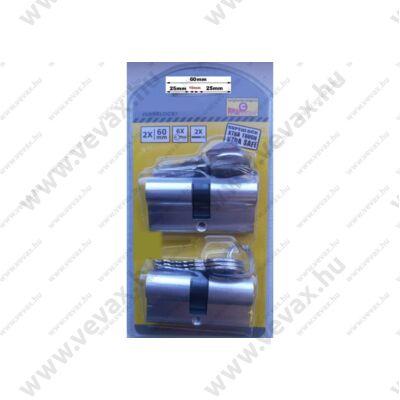 2db ProInstrument 60mm CILINDER BIZTONSÁGI ZÁRBETÉT 30/30mm HENGERZÁRBETÉT 5+5 CSAPOS 3 kulcsos CILINDERBETÉT 2 év GARANCIA