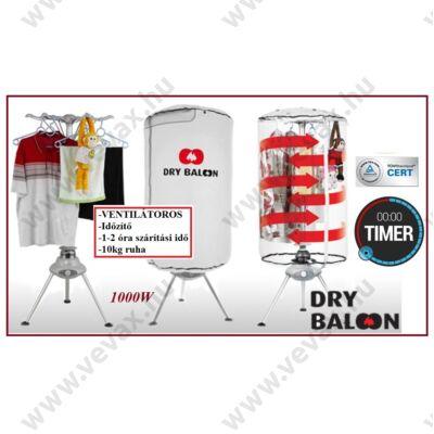 Dry Balloon Plus VENTILÁTOROS RUHASZÁRÍTÓ ÁLLVÁNY (10kg-nyi ruha) HORDOZHATÓ ELEKTROMOS TÖRÖLKÖZŐSZÁRÍTÓ IDŐZÍTŐS TÖRÖLKÖZŐ SZÁRÍTÓ