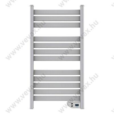 Fehér színű elektromos fali törölközőszárító 450 W-os teljesítménnyel