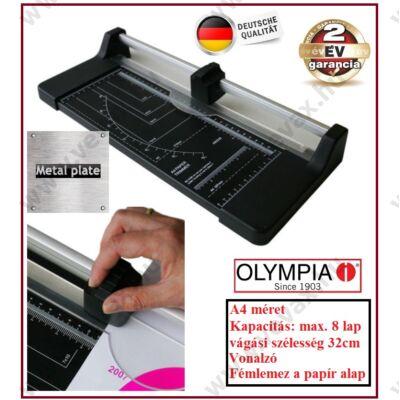 OLYMPIA A4 PAPÍRVÁGÓ VÁGÓVONALZÓ 32cm / 8 LAP TR3208 2 év GARANCIA