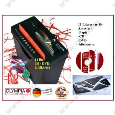 2in1 OLYMPIA PS 18 IRATMEGSEMMISÍTŐ + CD DVD BANKKÁRTYA 11 LITERES 2 év GARANCIA