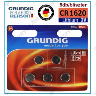 GRUNDIG Premium CR1620 LITHIUM GOMBELEM 5db / bliszter 3V elem