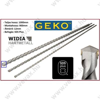 GekO SDS PLUS VídiA BETONFÚRÓ 12x1000mm FÚRÓSZÁR SDS-PLUS 100cm