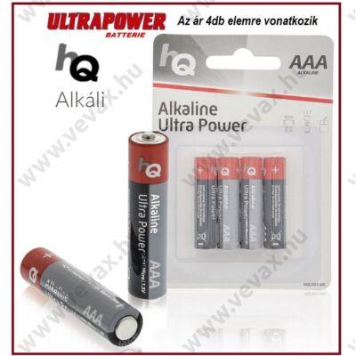 4db HqUltraPower LR03 1,5V ALKÁLI MIKRO CERUZA ELEM AAA tip TARTÓS 4db/csomag ÁRON
