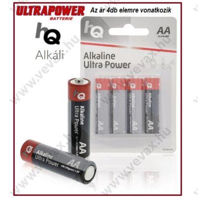 4db HqUltraPower LR6 1,5V ALKÁLI CERUZA ELEM AA tip TARTÓS 4db/csomag ÁRON