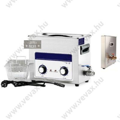 ProInstrument AnA40K INOX Heating IPARI 6 Literes 180W ULTRAHANGOS TISZTÍTÓ GÉP + MELEGÍTŐ FUNKCIÓVAL 20-80°C HŐFOKSZABÁLYZÓS MOSÓ