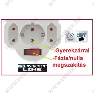 ProInstrument 3-as FALI KAPCSOLÓS ELOSZTÓ TRIPLA DUGALJ FÁZIS / NULLA MEGSZAKÍTÁSSAL