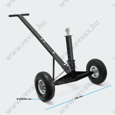 Manőverezési segédeszköz 270 kg-os pótkocsikhoz, állítható magasságú kapcsológolyóval