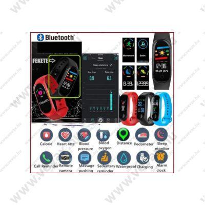 ProInstrument E-Health SZÍNES Bluetooth PULZUSMÉRŐ VÉRNYOMÁSMÉRŐ OKOSÓRA VÍZÁLLÓ LÉPÉSSZÁMLÁLÓ VÉROXIGÉN OKOS KARKÖTŐ SPORTÓRA FACEBOOK APP ANDROID IOS FeketE KARÓRA 2 év GARANCIA